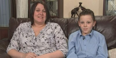 Liam Scholes y su madre Foto:Good Morning Britain