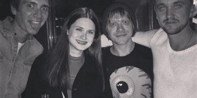 Anoche él se reunió con Grint y con quienes hacían de sus hermanos en la película. Foto:Instagram