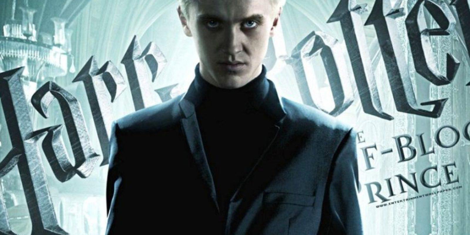 Draco Malfoy siempre fue el antagonista perfecto. Foto:Warner