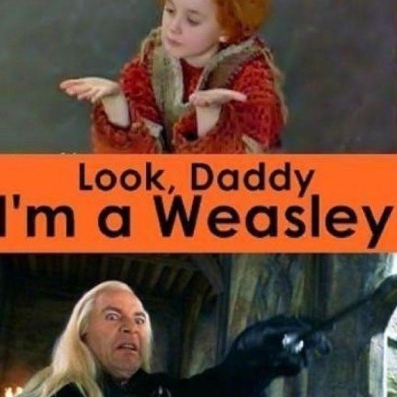 Sobre todo, porque en la historia los Weasley eran pobres y los Malfoy eran de la alta sociedad en el mundo mágico. Foto:Tumblr