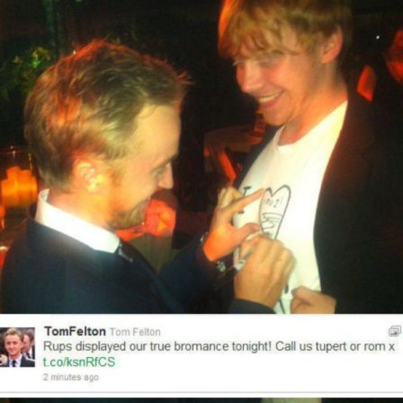"""Incluso bromean sobre su """"bromance"""" Foto:Twitter"""