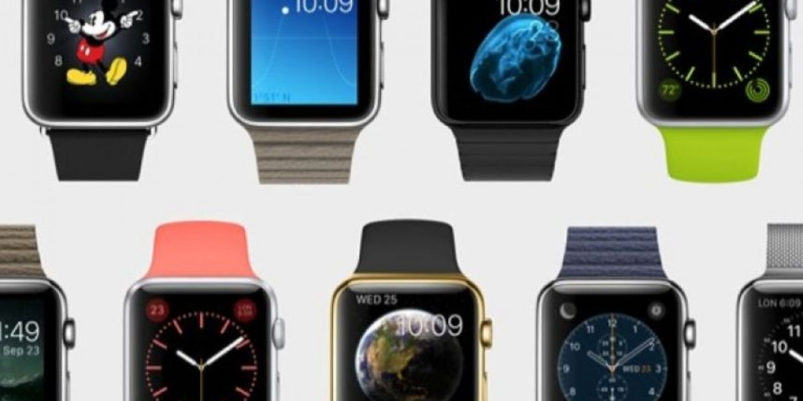 Hasta 18 modelos diferentes podrán elegir para su reloj en la edición Watch. Foto:Apple