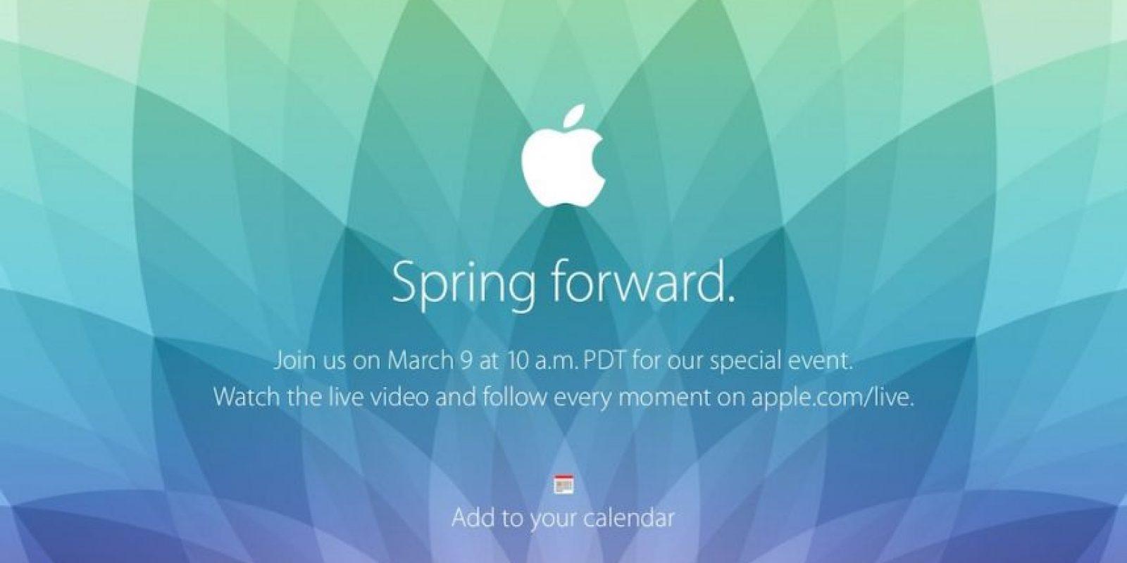 Este lunes será el evento de Apple. Foto:Apple