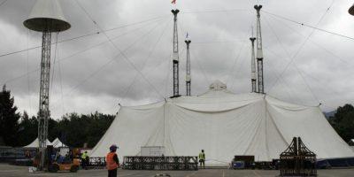 El show de Corteo cuenta con un escenario único. Foto:Juan Pablo Pino / Publimetro