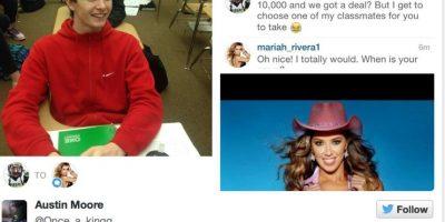 Lo logró, pero a pesar de eso, no puede ir con Mariah. Foto:Twitter