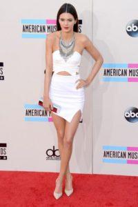 Kendall, con un vestido igual. Foto:Getty Images