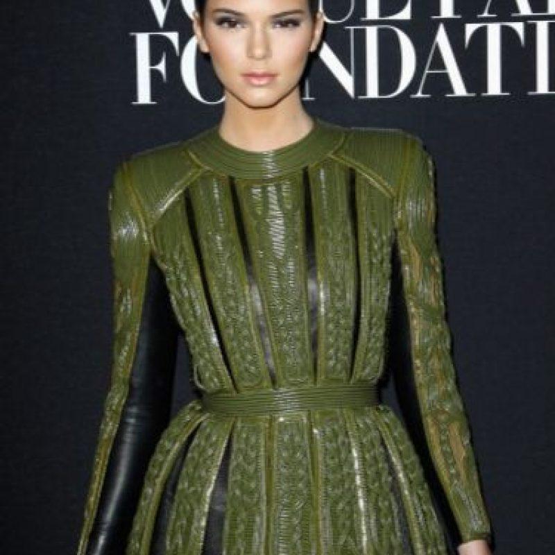Kendall en un conjunto totalmente militar. Foto:Getty Images