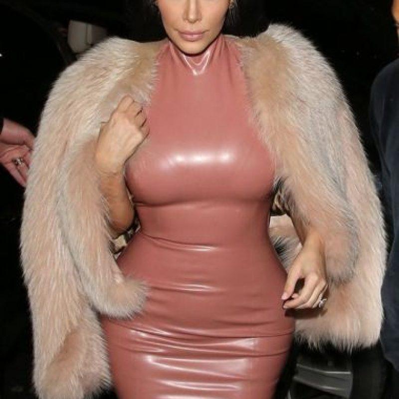Kim con fur. Foto:Getty Images