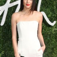 Kendall con un enterizo total white. Foto:Getty Images