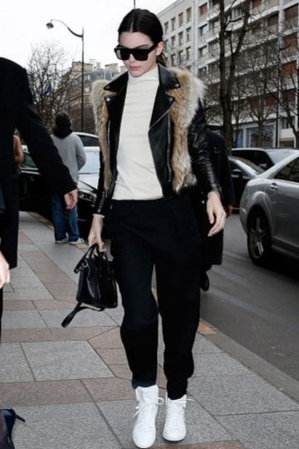 Kendall, con fur. Foto:Getty Images
