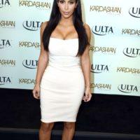 Kim, con un vestido como los que solía usar. Foto:Getty Images