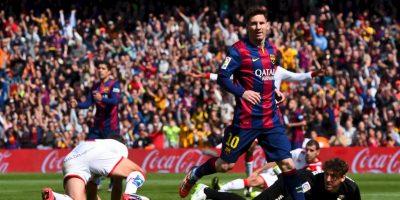 Y Messi marcó el 3-0 parcial de una goleada que terminó 6-1, en favor de los culés Foto:Getty Images