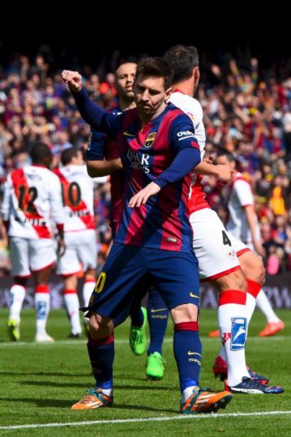 El argentino llevó a su hijo al estadio Foto:Getty Images
