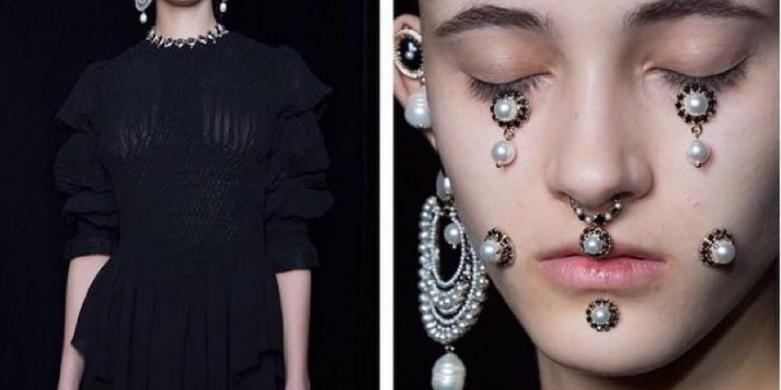 Esto lo presentó para Givenchy. Foto:Twitter
