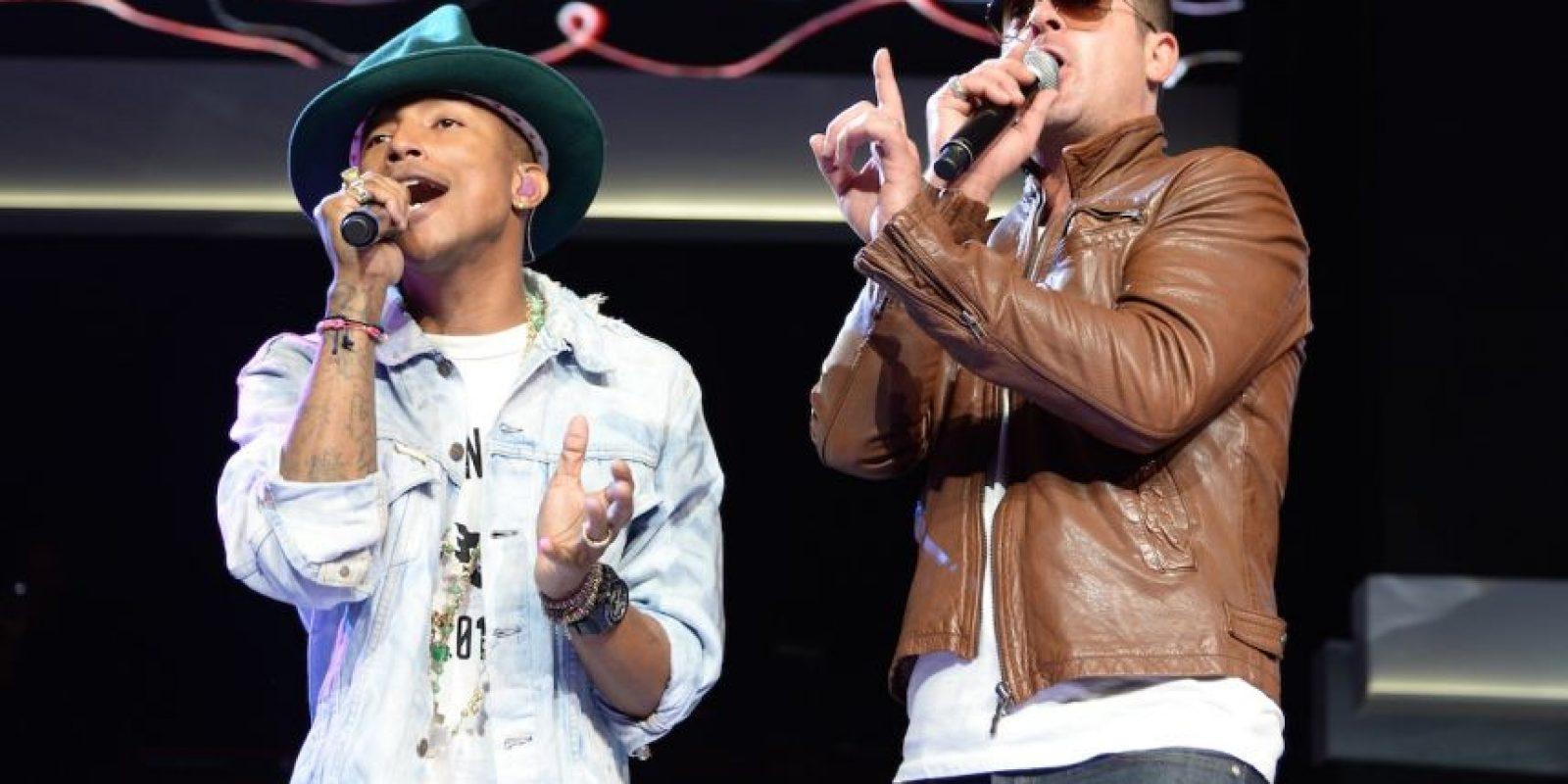 """Pharrell declaró que """"Blurred Lines"""" tenía un """"estilo a Gaye"""" y la música de la década de los 70 Foto:Getty images"""