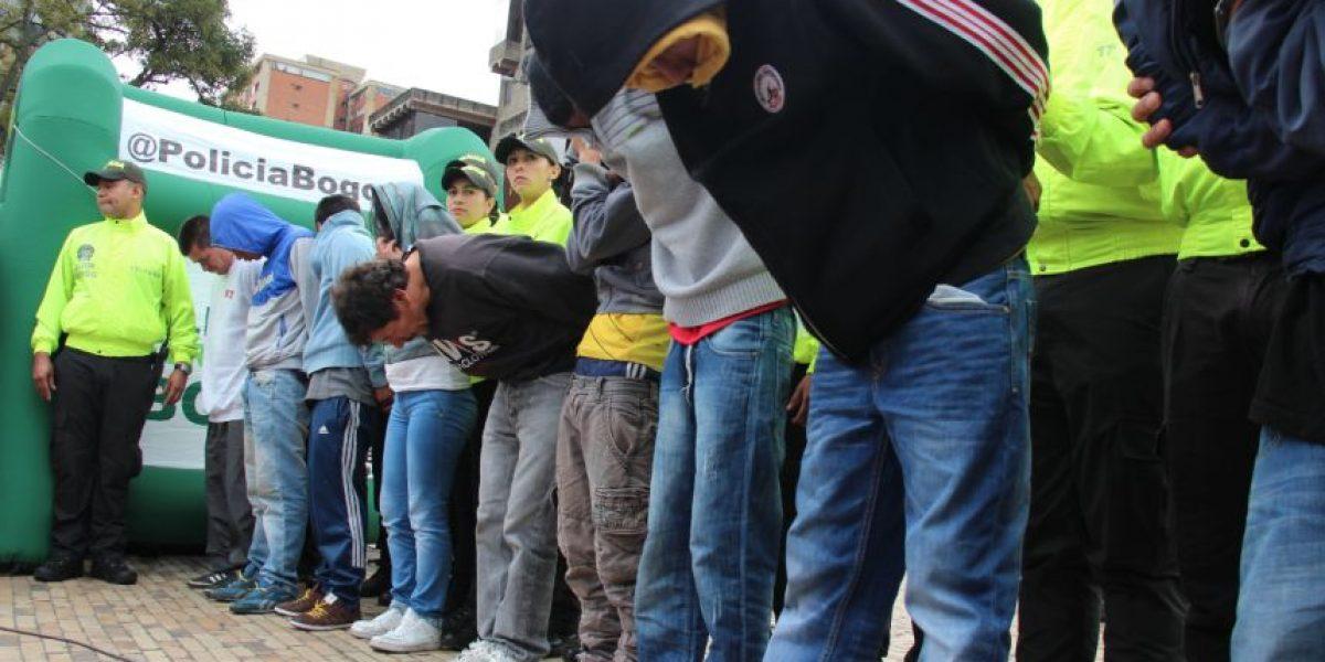 FOTOS: Las peligrosas bandas que operaban en el centro de Bogotá