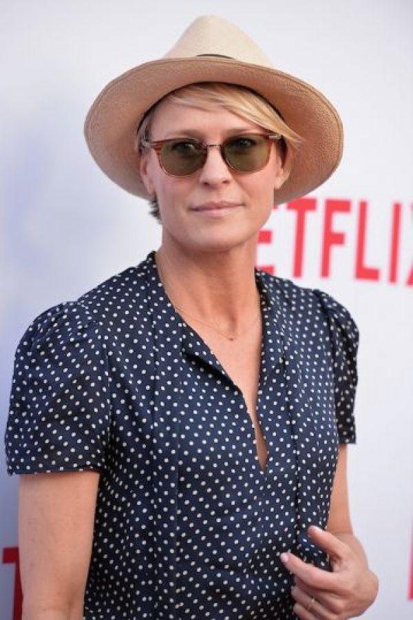 "Actualmente interpreta a Claire Underwood en la serie ""House of Cards"" Foto:Getty Images"