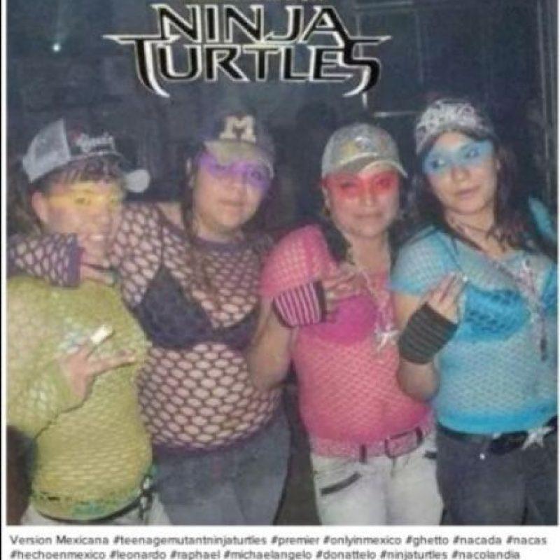 """Ellas son las """"Tortugas Ninja"""". ¿Quién es April? Foto:Oddee"""
