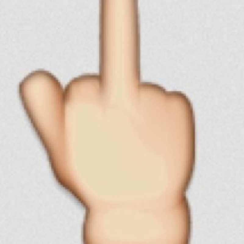 Una seña obscena en los emojis. Foto:Twitter