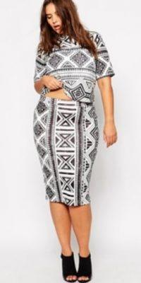 Falda estampada por 40 dólares. Foto:ASOS