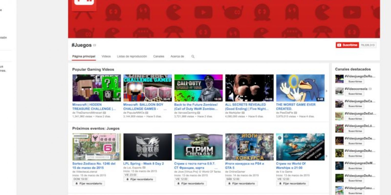Así se ve YouTube juegos. Foto:Vía YouTube