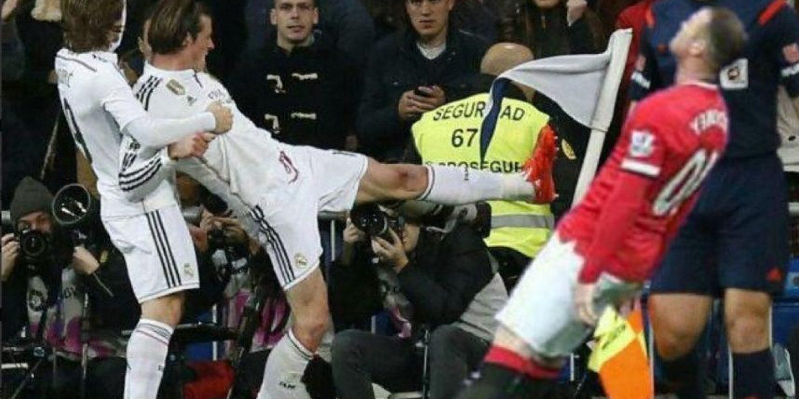 Golpeado por Gareth Bale. Foto:Twitter