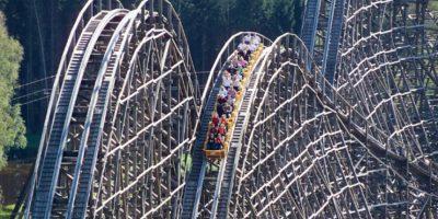 Está construida mayormente de madera Foto:www.heide-park.de