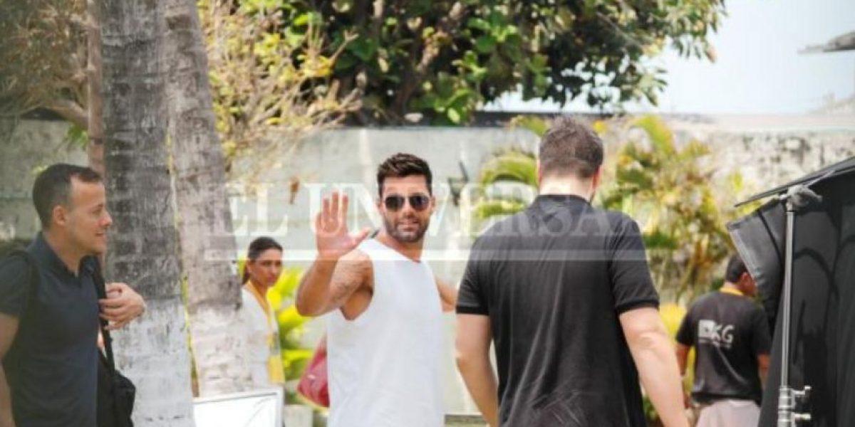 Galería: Así fue la grabación del video de Ricky Martin en Cartagena