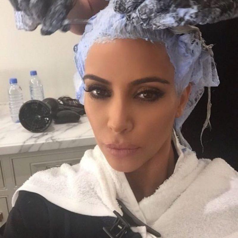 ¡El rubio es de tiempo completo! Foto:Vía Instagram Kim Kardashian