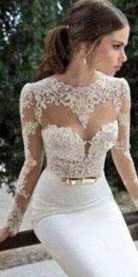 Un vestido de boda hecho por los mismos dioses… Foto:KnockOffNightmares