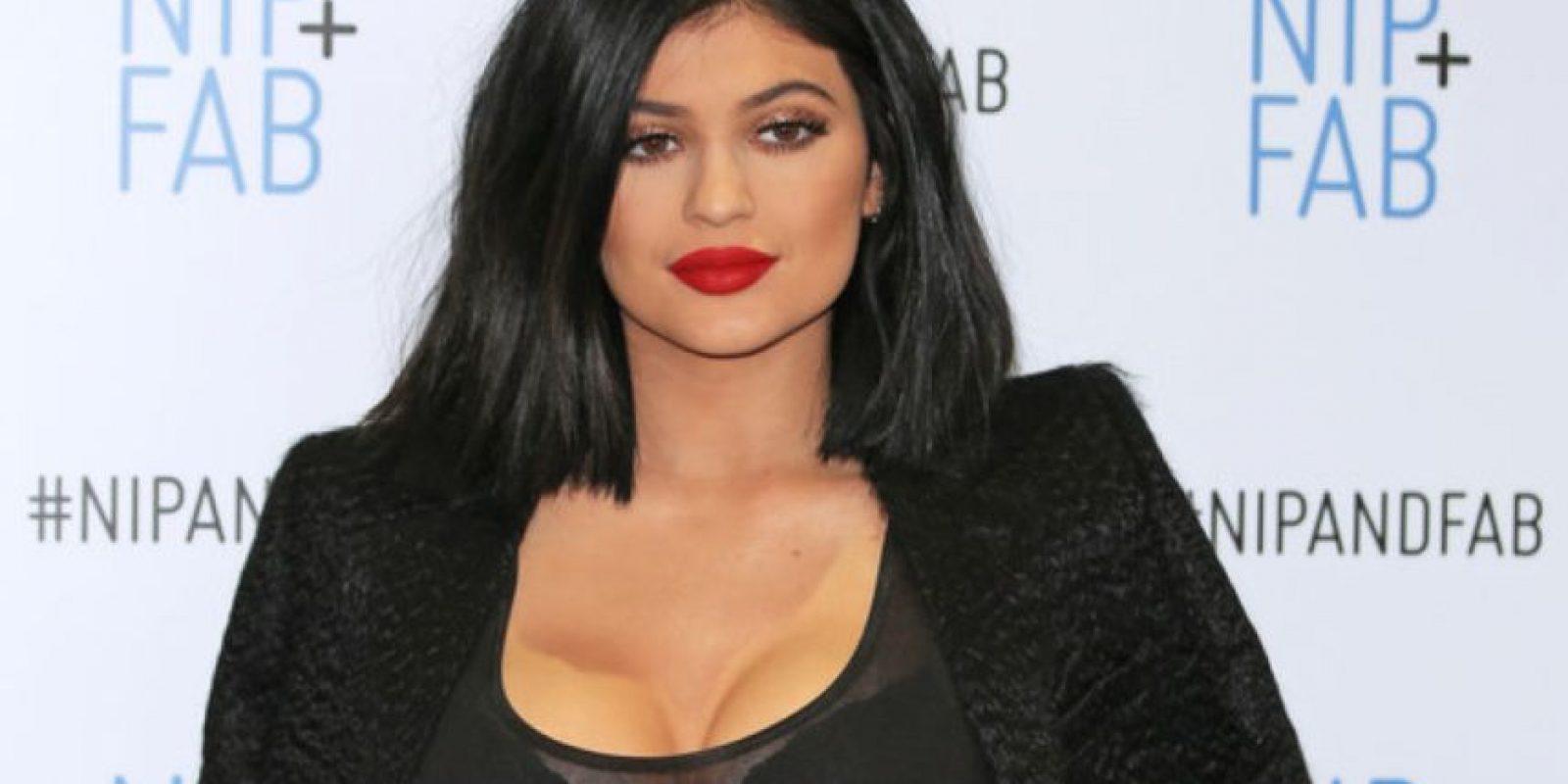 Kylie Jenner impresionó con este mal maquillaje en su última aparición. Foto:Getty Images