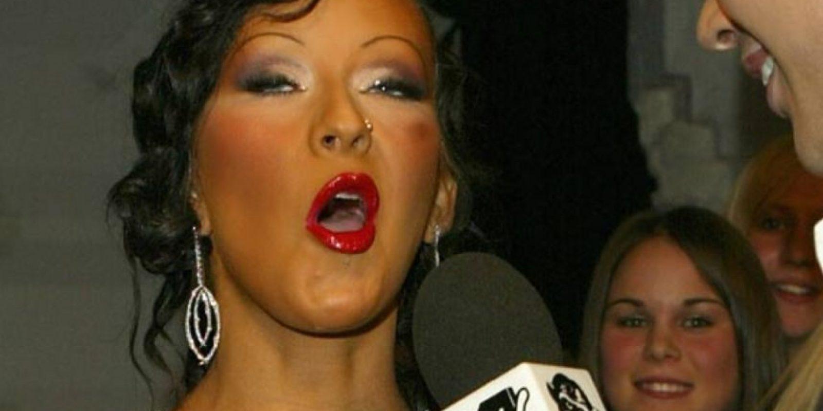 """Christina Aguilera se acaba de coronar como la """"Pitufina"""" de los Oompa Loompas. Foto:Getty Images"""
