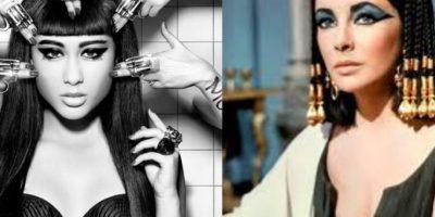 La compararon con la Cleopatra que interpretó Elizabeth Taylor Foto:Twitter