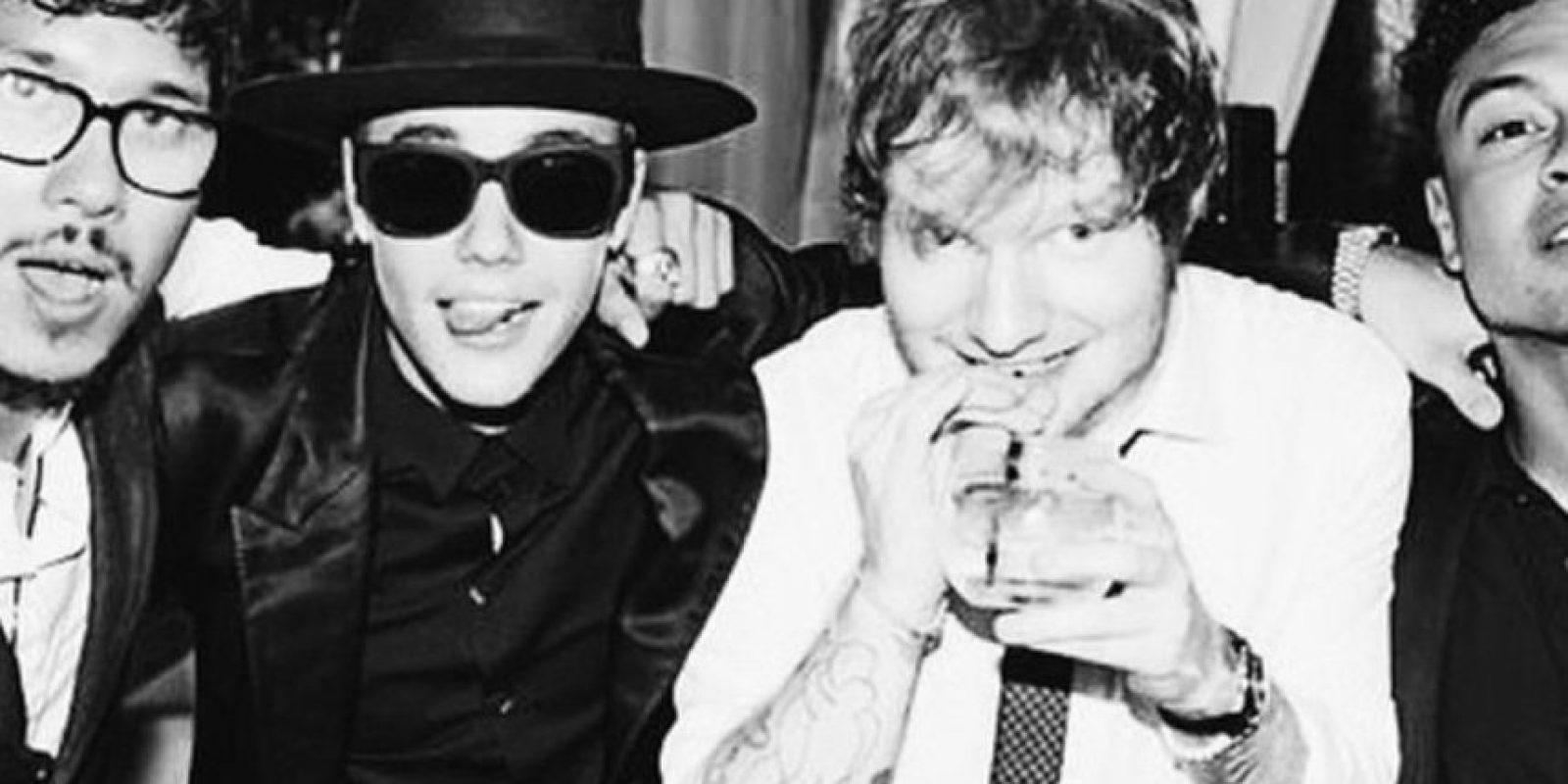 Justin con Ed Sheeran. Se relaciona con más pesos pesados. Foto:Instagram/Justin Bieber