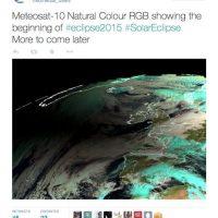 Meteosat hizo publicas las fotos del eclipse solar desde el espacio. Foto:Twitter @eumetsat_users