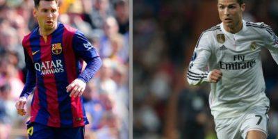 Messi contra Cristiano Ronaldo en el clásico español. Foto:Getty Images