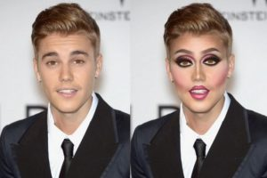Justin Bieber Foto:celebritiesasdragqueens.tumblr