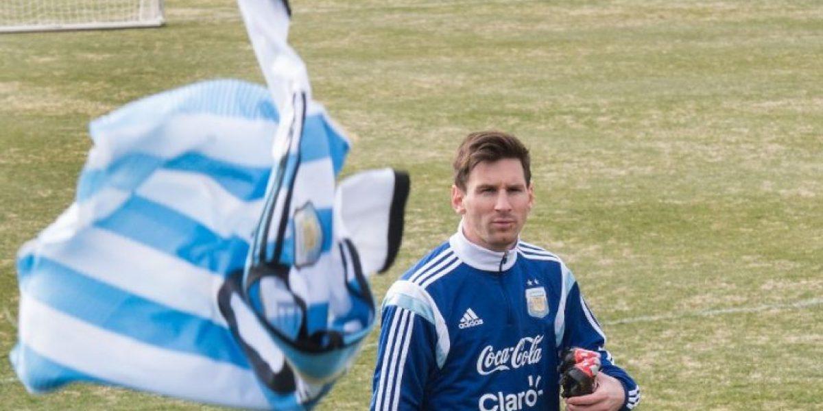 Lionel Messi rompe el protocolo en Washington