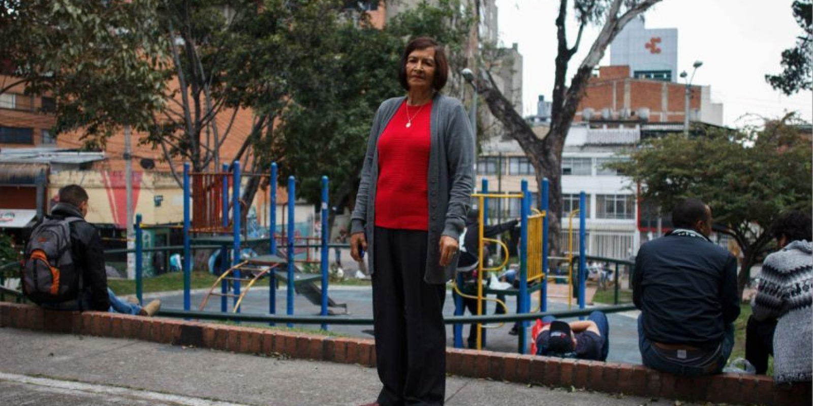 Ella es doña Berta Valero, defensora del sector de cuatro parques, en Chapinero. Foto:Juan Pablo Pino-Publimetro