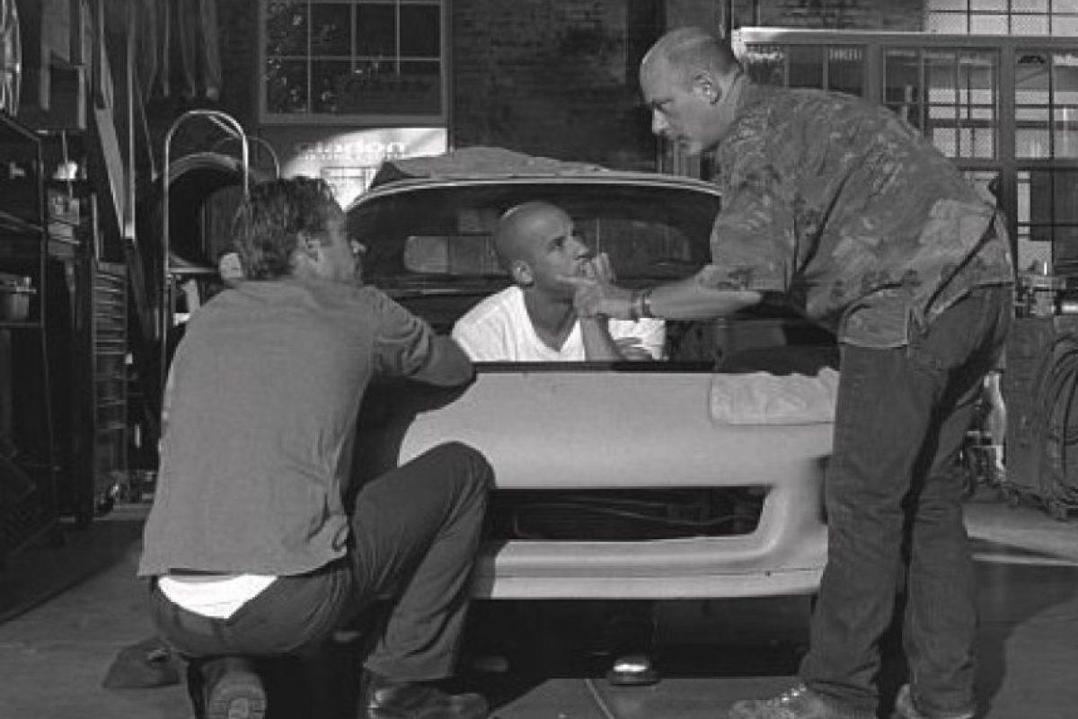 "En el backstage de ""Fast and Furious"" Foto:IMDB / Universal Studios"