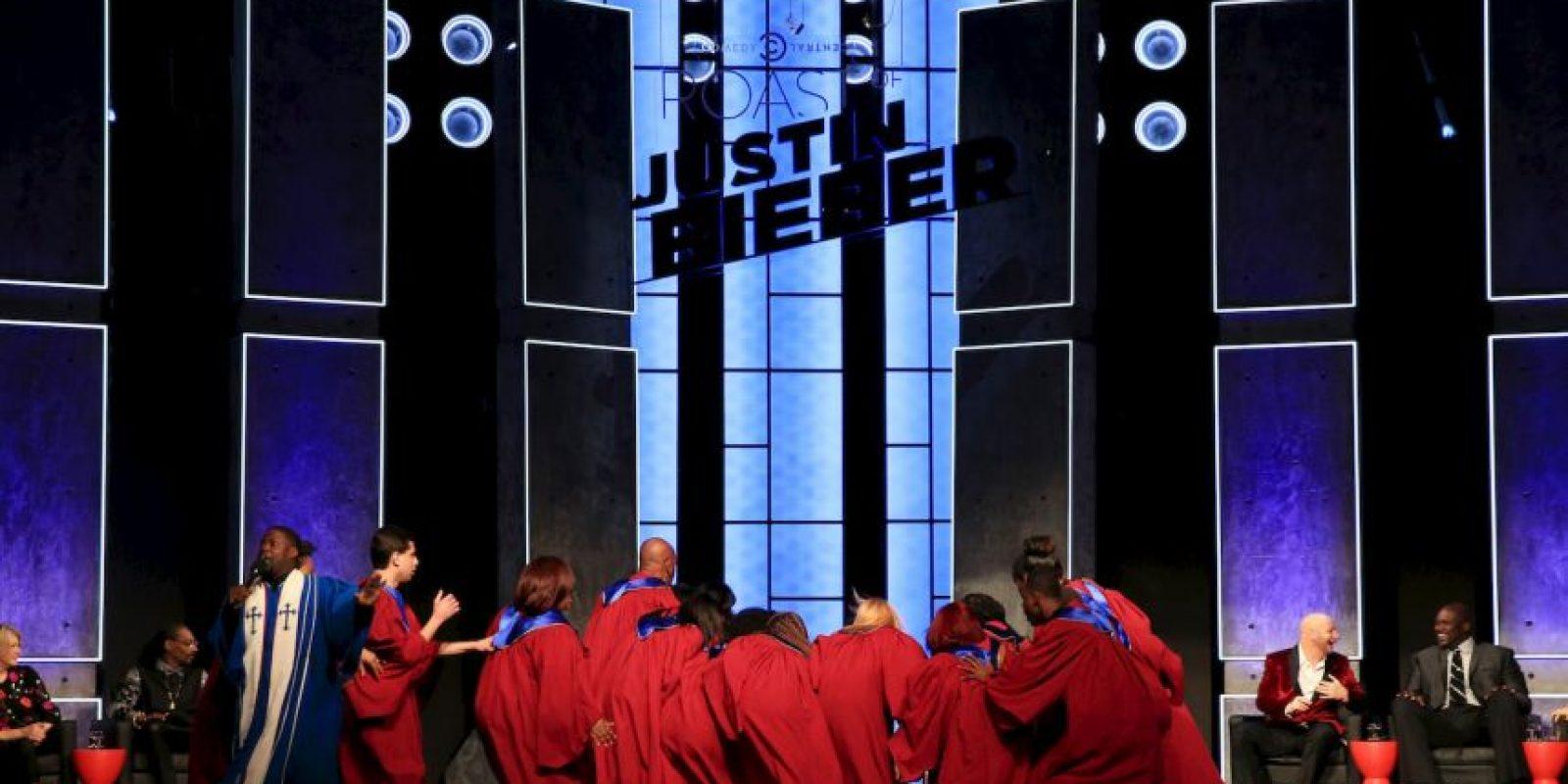 """Justin Bieber en su presentación en su """"roast"""" hecho por Comedy Central. Foto:Getty"""