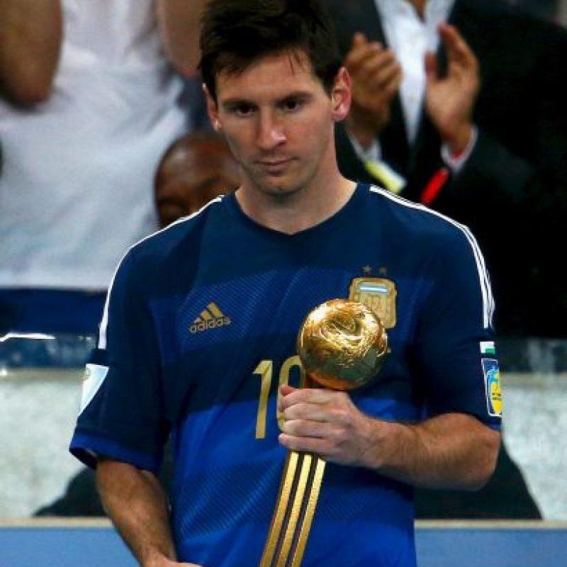 Con Argentina: en Brasil 2014 fue el Balón de Oro del Mundial, pero perdió la final ante Alemania. Foto:Getty Images