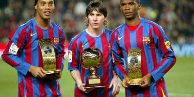 En 2005 fue nombrado el mejor jugador joven de la FIFA, Ronaldinho fue el mejor del año para la FIFA, y Eto'o, el tercero. Foto:Getty Images