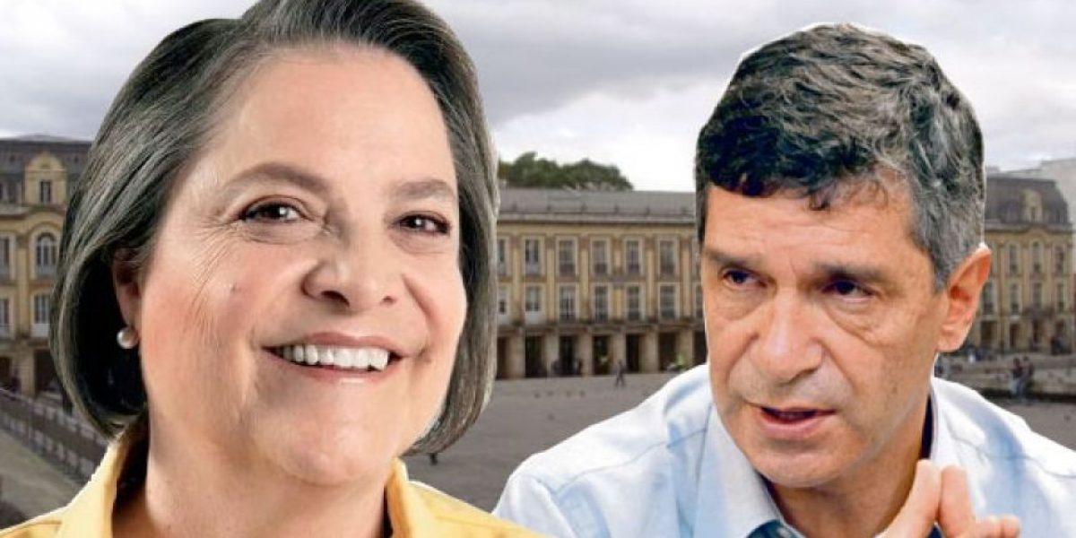 Cabeza a cabeza entre Clara López y Rafael Pardo por la Alcaldía de Bogotá