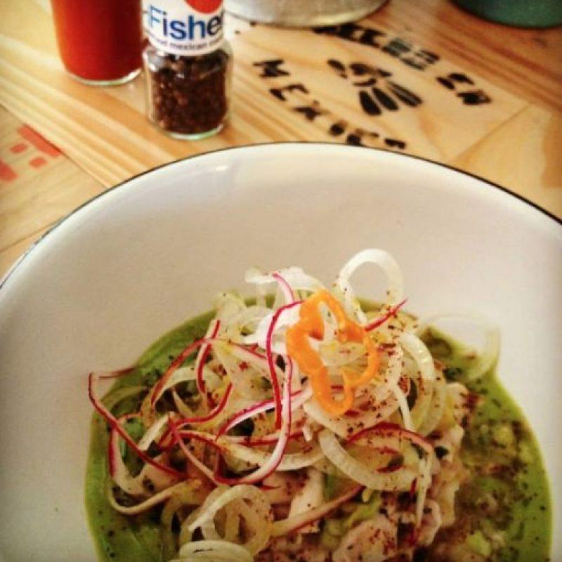 Green fresh white ceviche, un de las formas de preparar ceviche en La Fisheria, el restaurante de Aquiles. Foto:La Fisheria