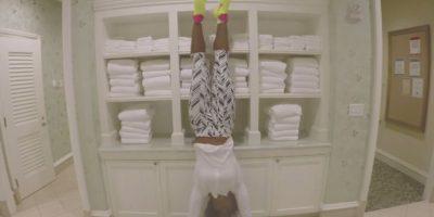 La tenista imitó a la cantante Foto:Youtube: Vogue