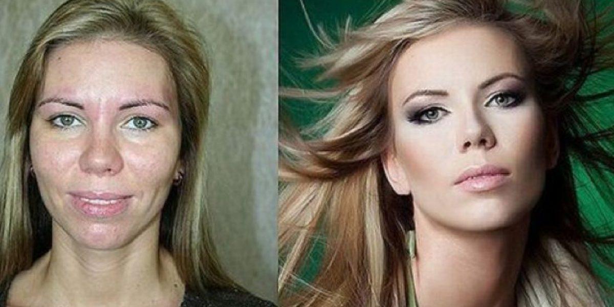 Fotos: Impresionante cambio de estas mujeres después de ser maquilladas