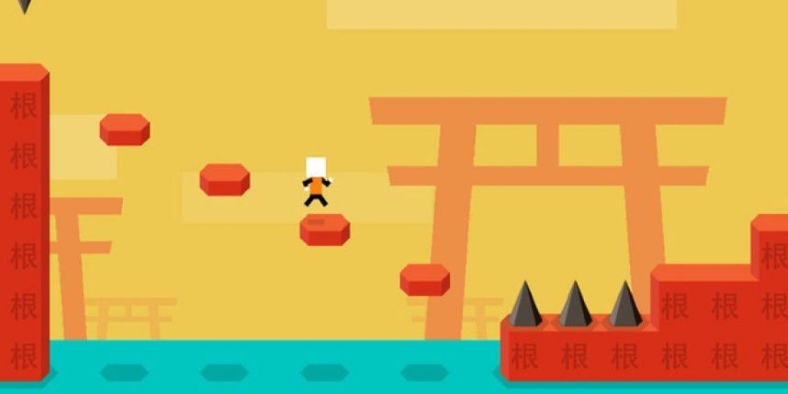 1- Mr Jump. Un juego en el que deberán ayudar a saltar al protagonista a través de diversos niveles. Foto:1Button SARL