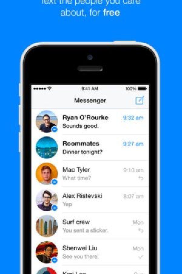2- Facebook Messenger. El chat de la red social Facebook. Foto:Facebook, Inc.