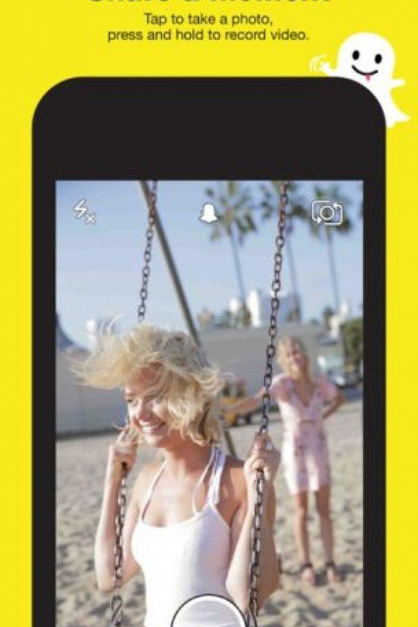 6- Snapchat. Se pueden enviar fotos que desaparecen en el tiempo que ustedes quieran. Foto:Snapchat, Inc.